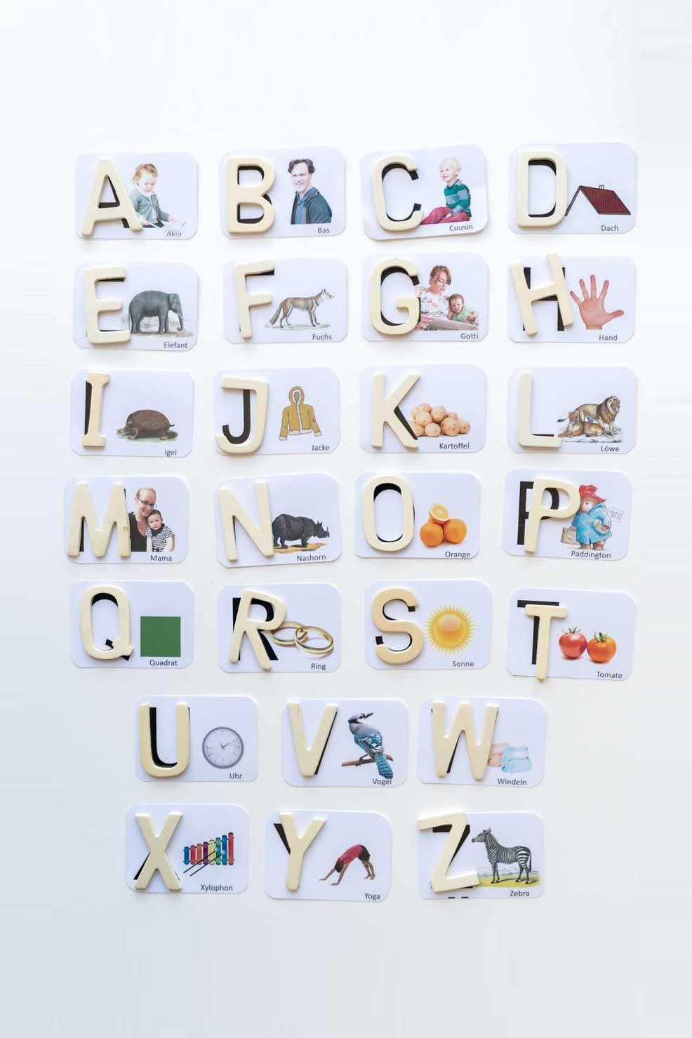 Diy: Buchstaben Lernen Mit Persönlichen Karten (Inkl für Buchstaben Lernen Für Vorschulkinder