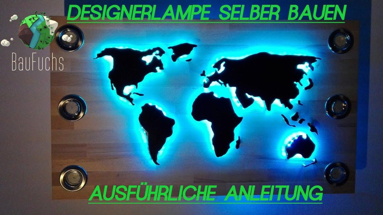 Diy - Designer Lampe Weltkarte Stil Selber Bauen | Bauanleitung verwandt mit Weltkarte Selber Machen