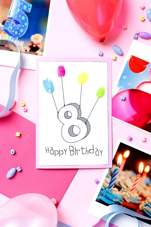 Diy Fingerabdruck Geburtstagskarten - Geburtstagskarte ganzes Geburtstagskarten Kindergeburtstag