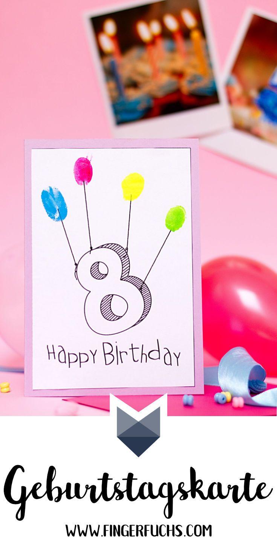 Diy Fingerabdruck Geburtstagskarten - Geburtstagskarte verwandt mit Geburtstagskarten Kindergeburtstag