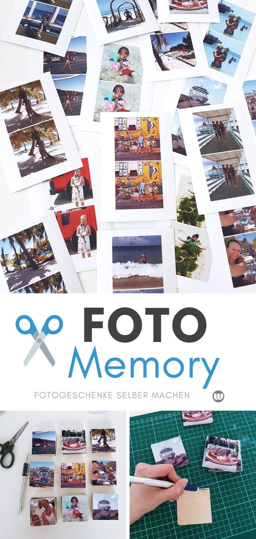 Diy Fotogeschenk: Foto-Memory Selbst Gestalten & Basteln ganzes Memory Spiel Selbst Gestalten