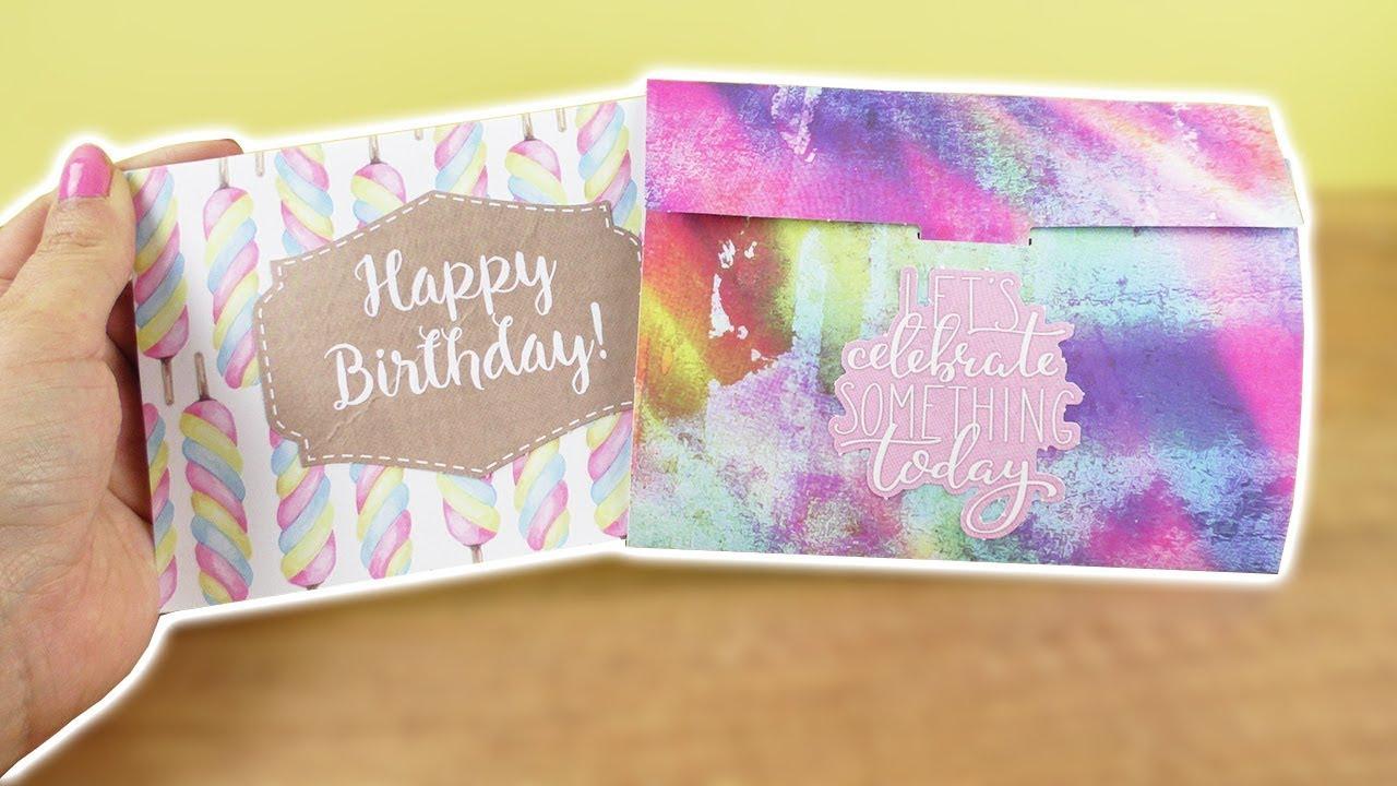 Diy Geburtstagskarte & Umschlag | Coole Geschenk Idee Zum Selber Machen |  Action Bastel Idee verwandt mit Geburtstagskarten Ideen