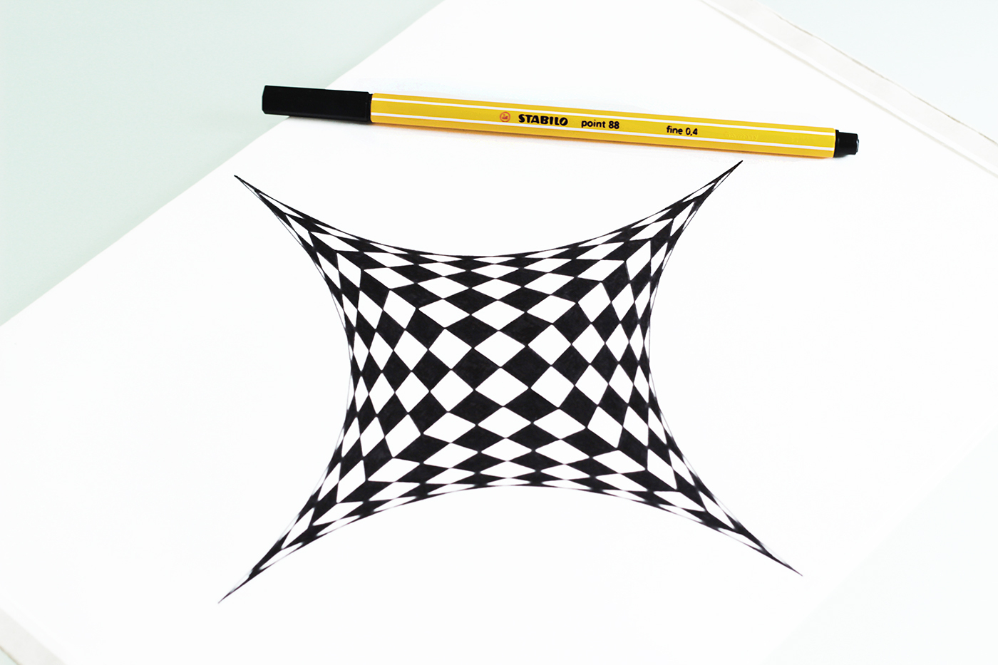 Diy Grafisches Zeichnen/optische Illusion: Der Stern – Yeah bei Optische Täuschungen Zum Selber Machen