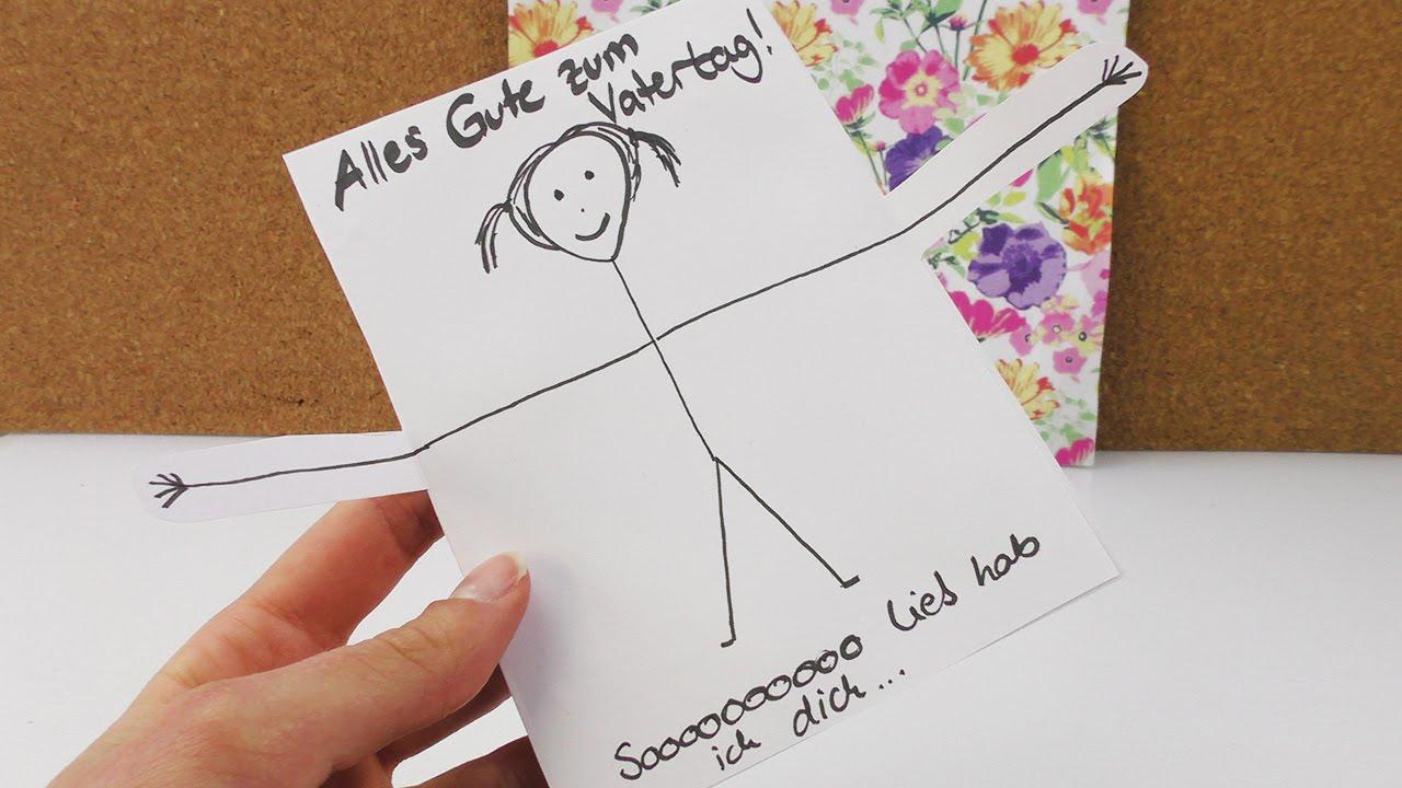 Diy Idee Für Den Vatertag   Super Süße Karte Selber Machen   Einfach,  Schnell & Niedlich   Geschenk in Vatertag Geschenkideen Zum Selber Machen