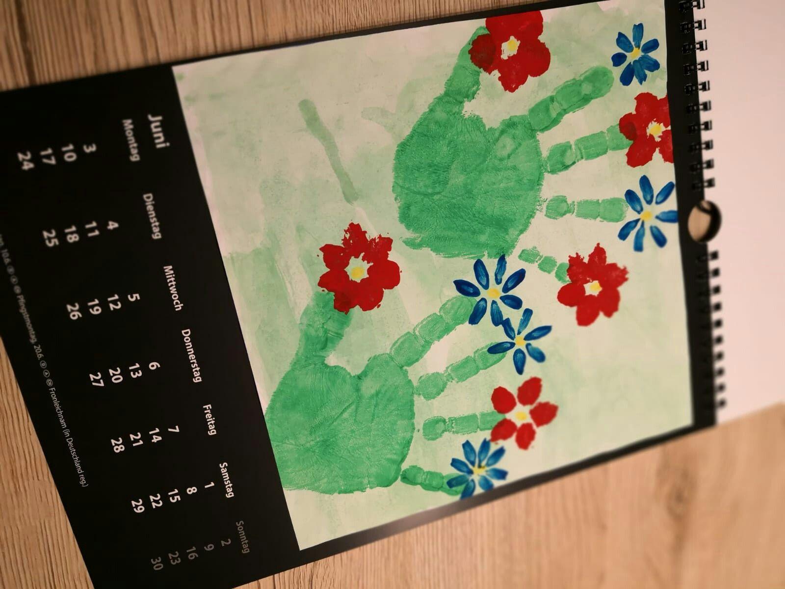 Diy Jahreskalender Mit Kindern Basteln Und Gestalten - Juni für Kalender Basteln Mit Kindern