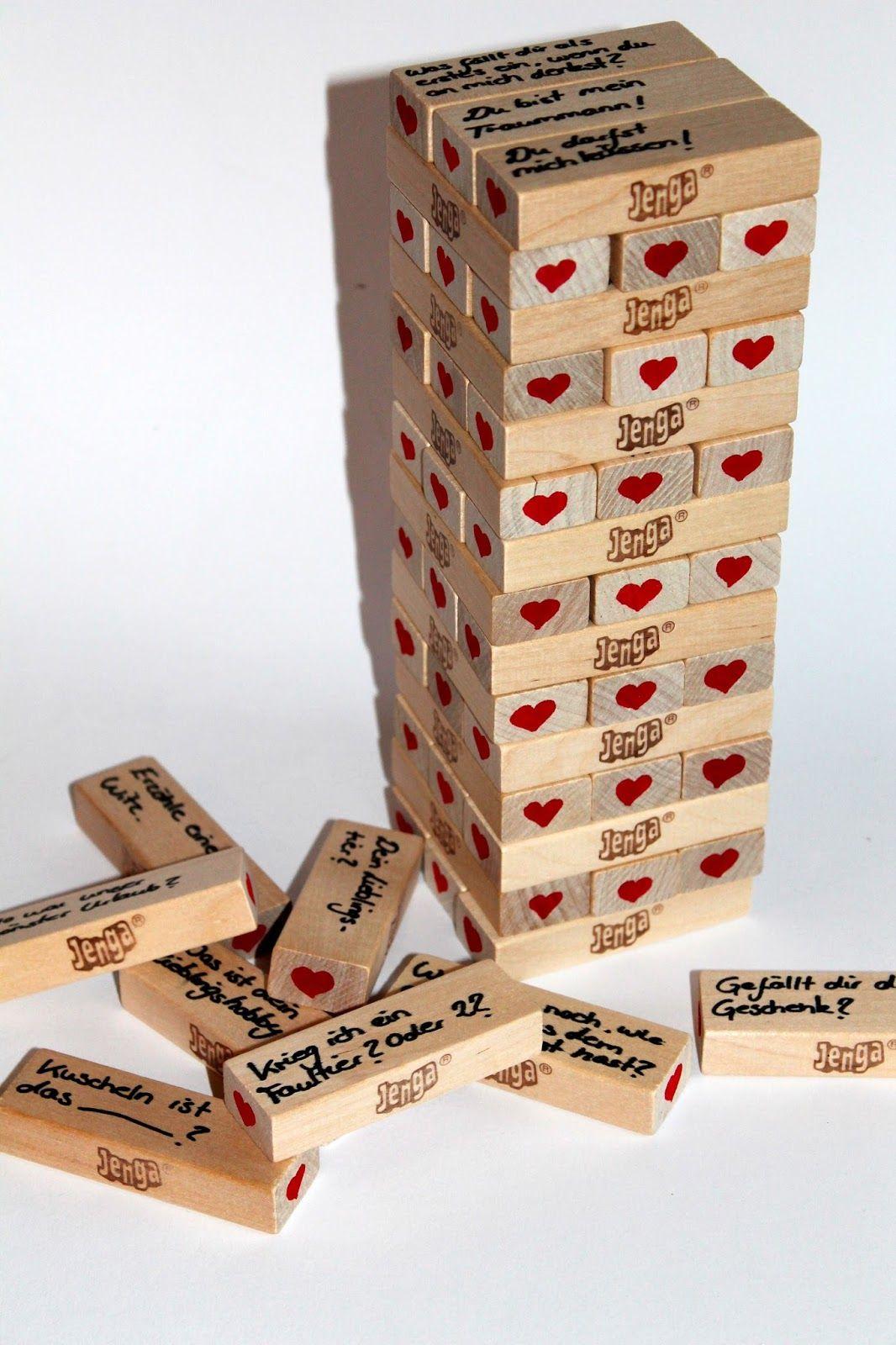 Diy Jenga Spiel Für Verliebte Ganz Einfach Selber Machen für Geschenke Zum Jahrestag Selber Machen
