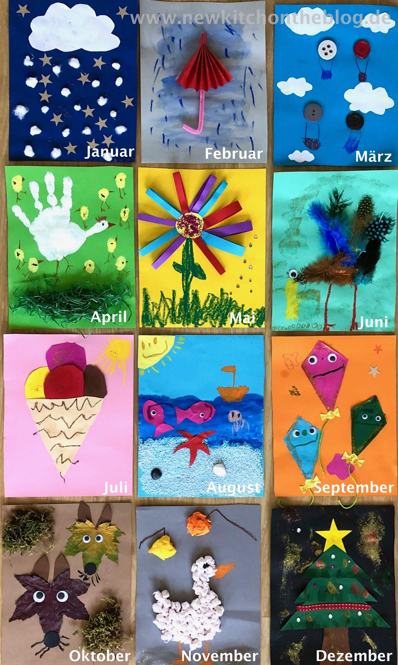 Diy-Kalender Mit Kindern Basteln: Meine Kinderbespaßung Wenn für Kalender Zum Basteln