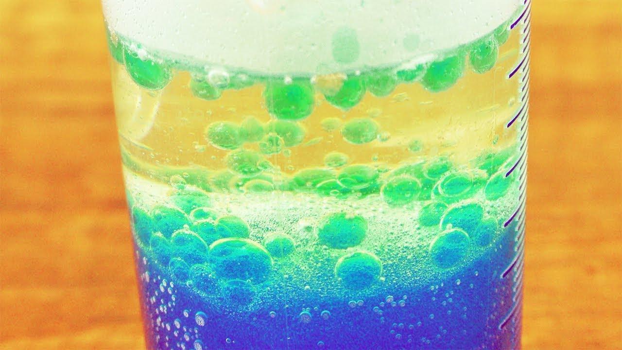 """Diy """"lavalampe"""" Im Glas   Super Experiment Für Zuhause   Kinder Experiment  Mit Öl & Wasser bei Experimente Mit Kindern Wasser"""