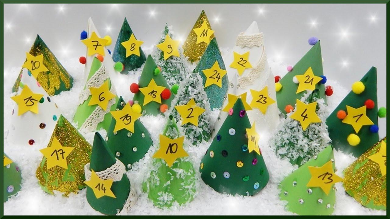 Diy | Papier Tannenbaum Adventskalender Selber Basteln | Paper Christmas  Tree Advent Calendar für Adventskalender Aus Papier Selber Basteln