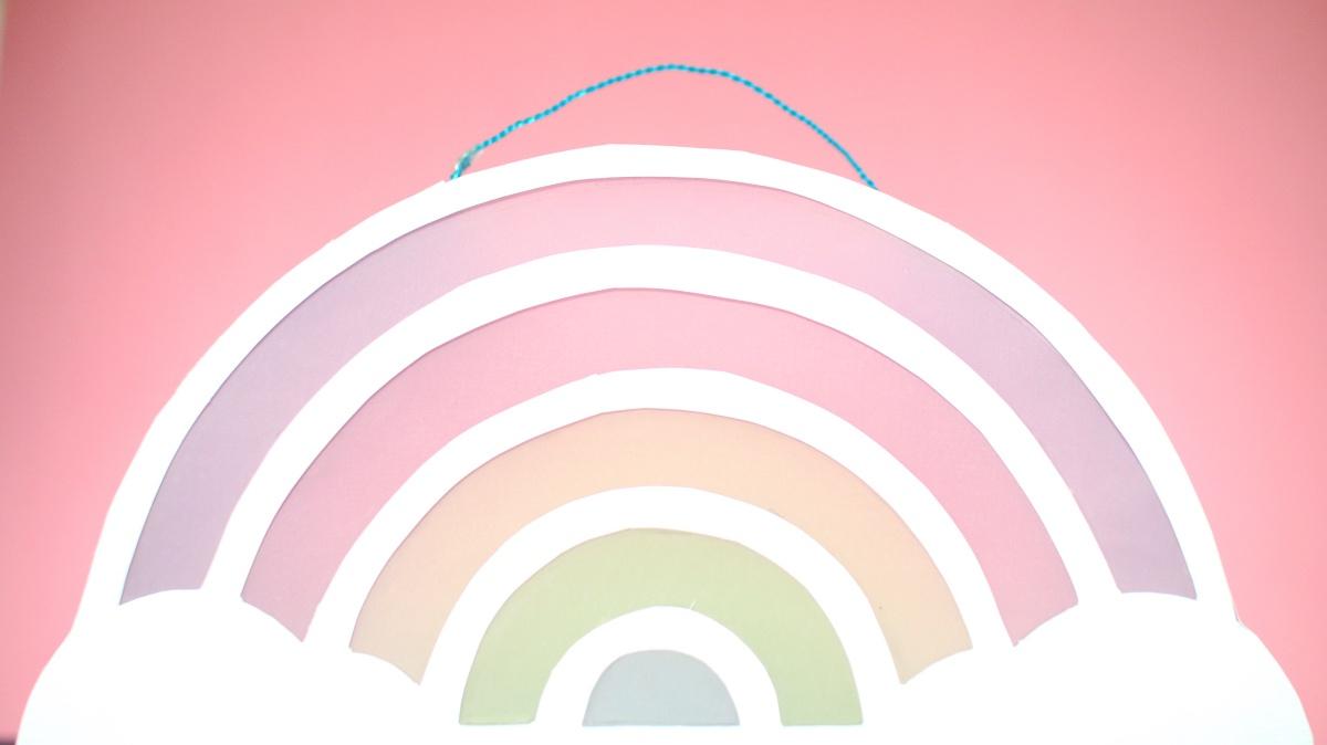 Diy Regenbogen Laterne Basteln - Bunter Laternenumzug Zu St für Bastelvorlage Regenbogen