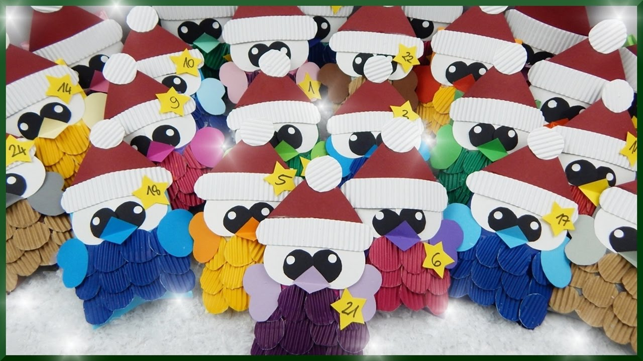 Diy | Süßen Eulen Adventskalender Selber Basteln | Cute Owls Christmas  Advent Calendar | Gift Boxes mit Adventskalender Aus Papier Selber Basteln
