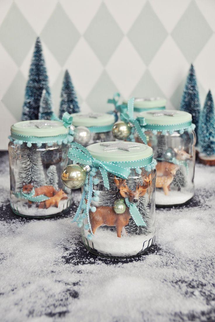 Diy - Winterwunderland Im Glas - Mein Selbstgemachtes innen Bastelideen Für Weihnachten Zum Verschenken