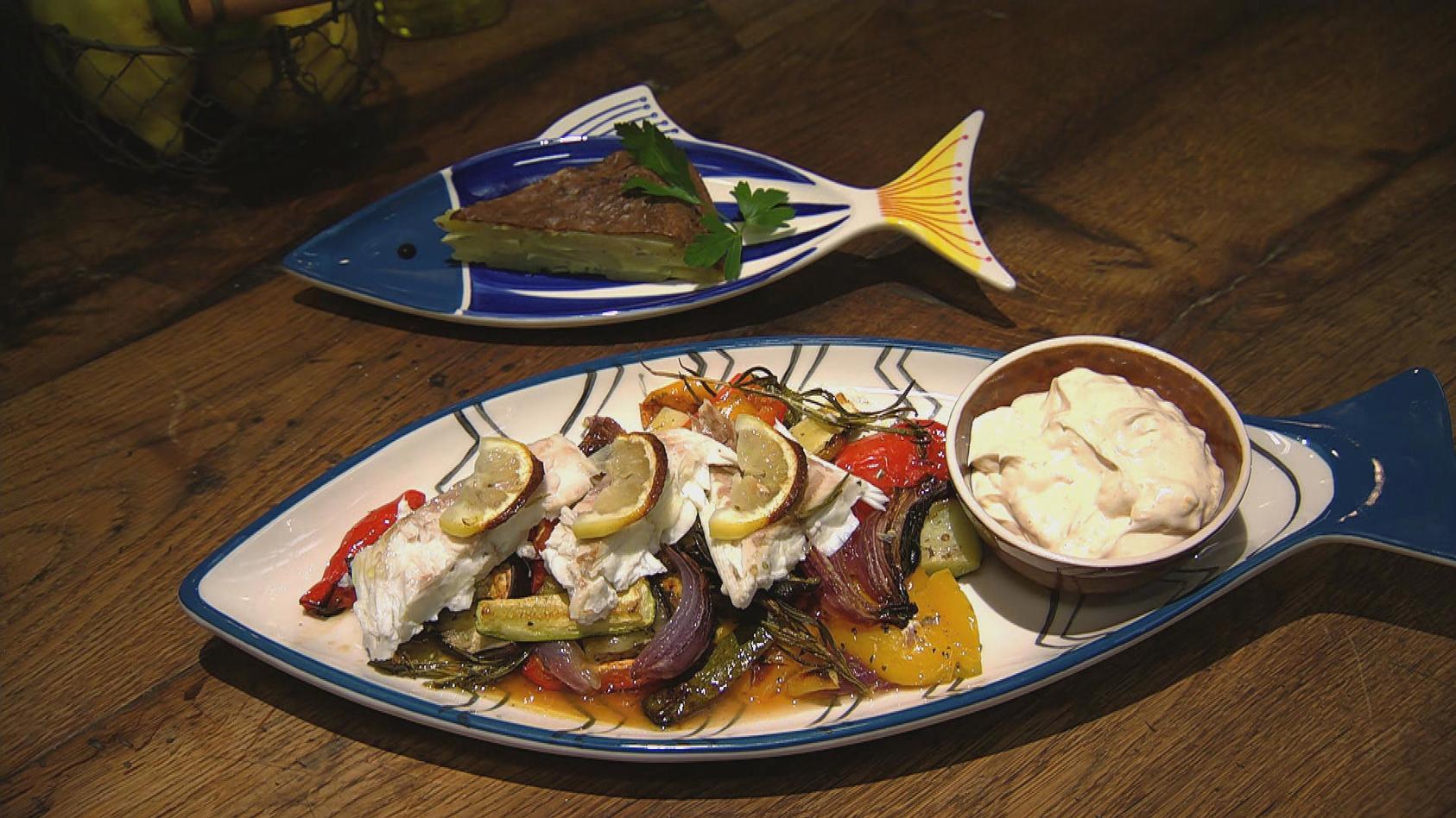 Dorade Vom Blech Mit Mediterranem Gemüse– Das Rezept Aus über Essen Und Trinken Gemüse