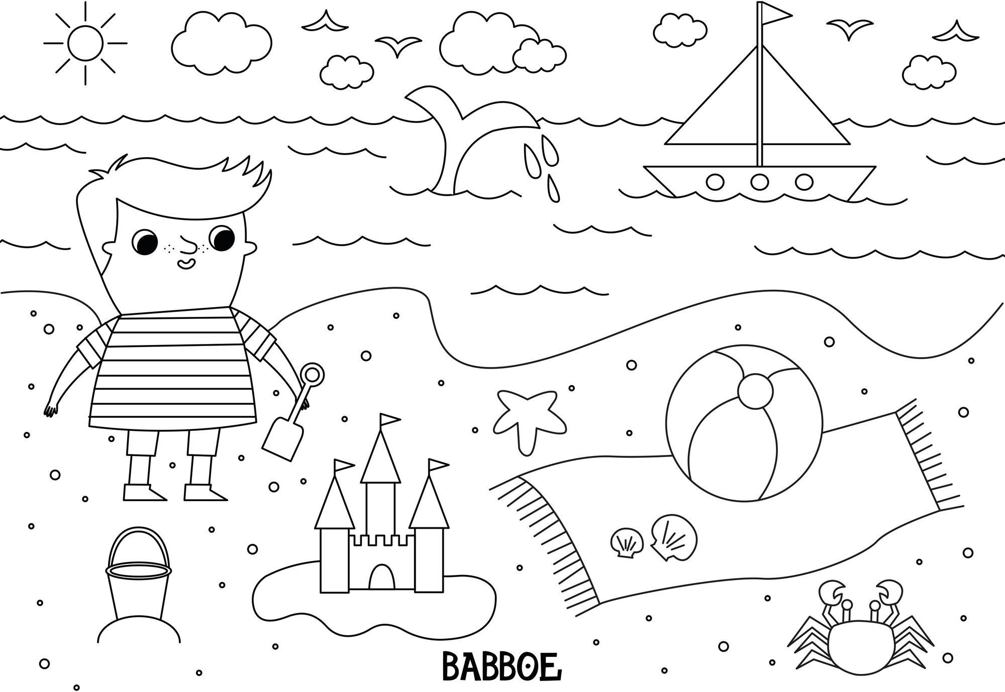 Download | Babboe Ausmalbild Sommer in Malvorlage Sommer