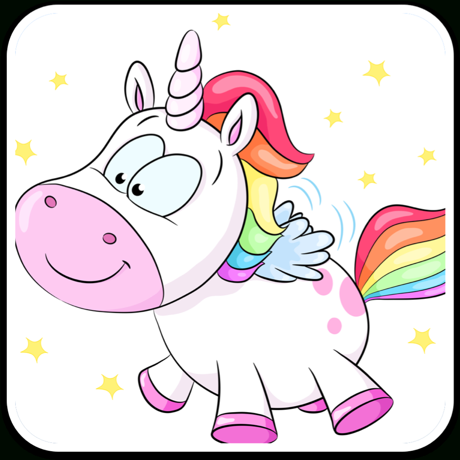 Download Hd Hand-Painted Cartoon Unicorn Vector Collection mit Einhorn Bilder Zum Ausdrucken