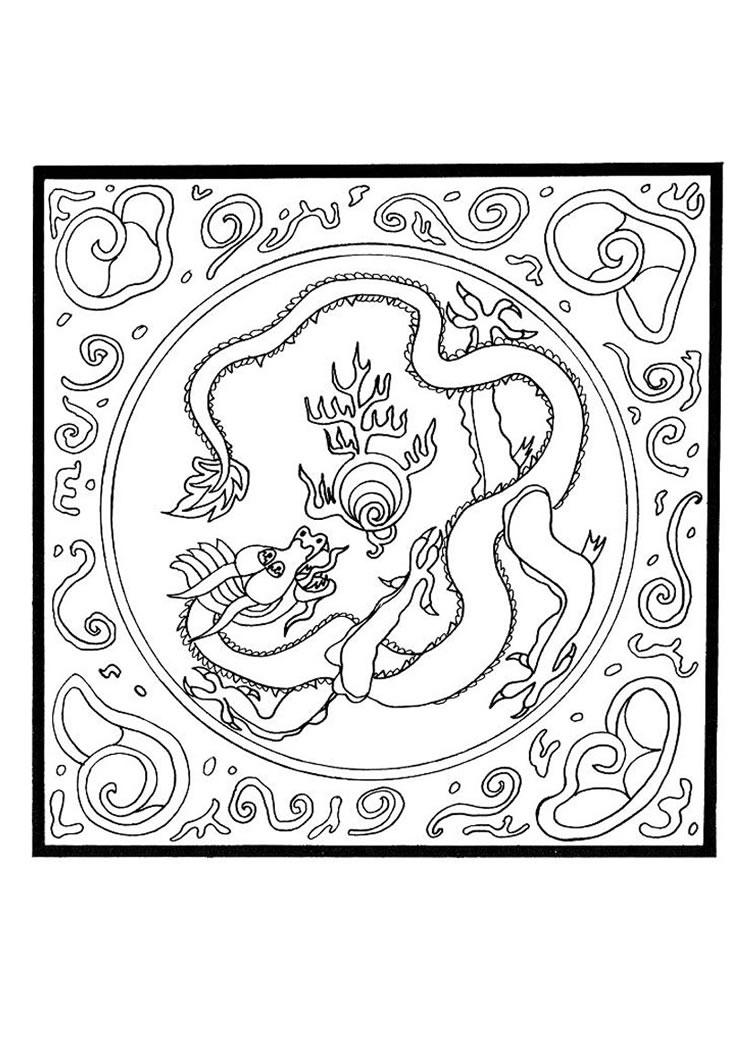mandala drachen - kinderbilder.download   kinderbilder