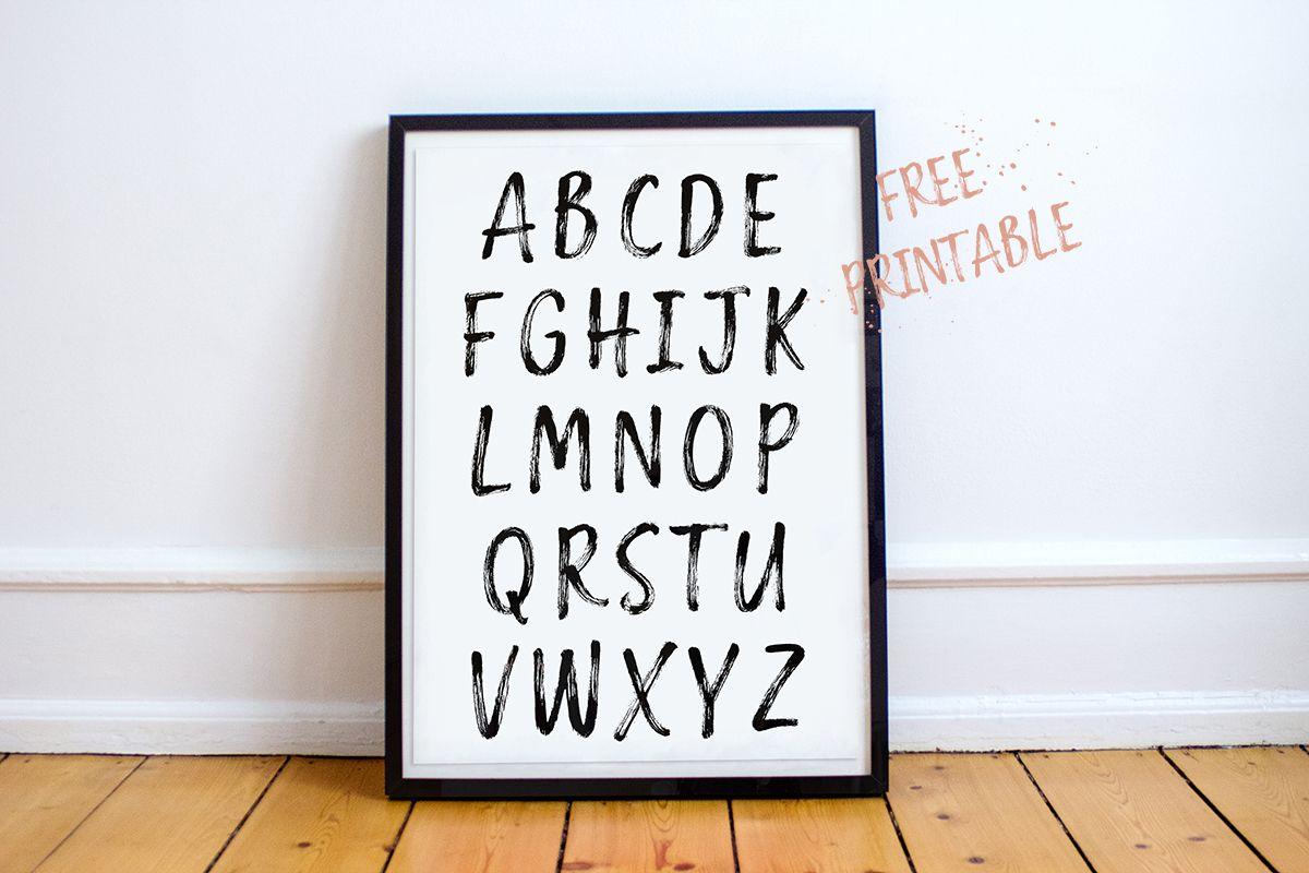 Druckvorlage // Kostenlose Abc-Poster Zum Ausdrucken | Abc ganzes Fotos Kostenlos Drucken