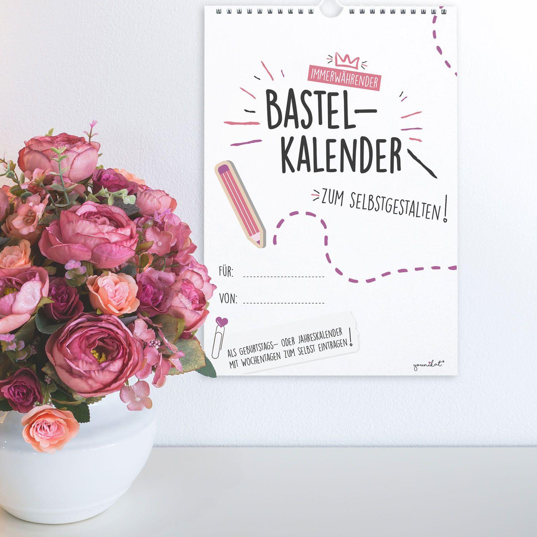 Du Erhältst Einen Bastel-Kalender Im Din A4 Hoch-Format Mit bei Immerwährender Kalender Selbst Gestalten
