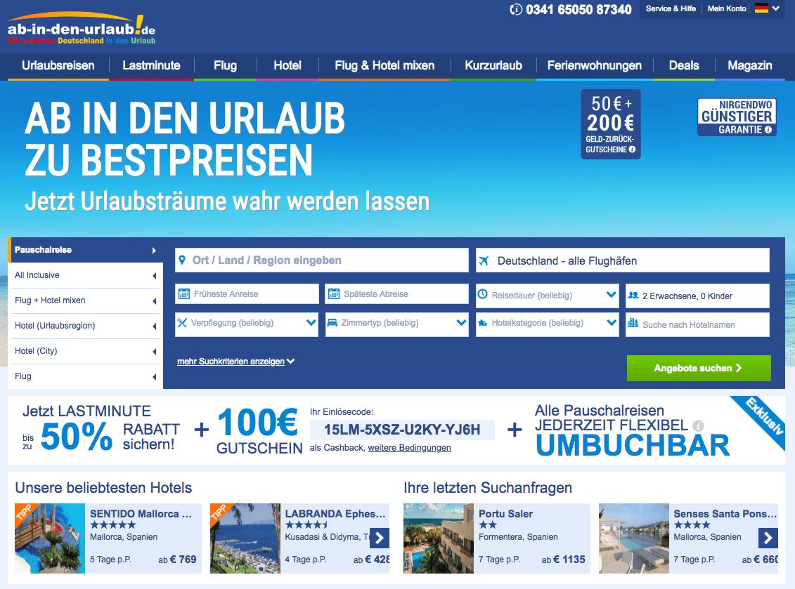 ᐅ Ab In Den Urlaub Gutschein & Bewertungen » 100€ Urlaubs in Geschenkgutschein Ab In Den Urlaub