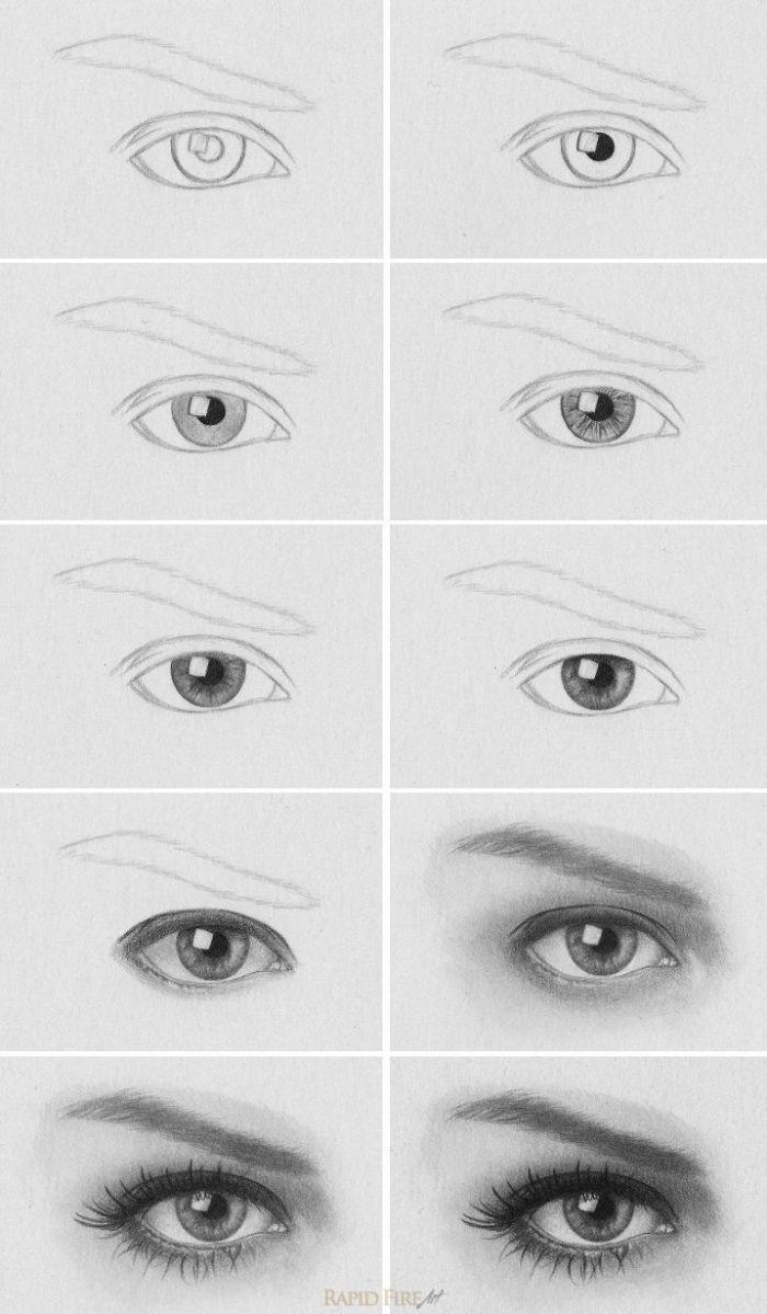 ▷ 1001 + Ideen Und Inspirationen, Wie Sie Auge Zeichnen In bestimmt für Augen Zeichnen Lernen Schritt Für Schritt