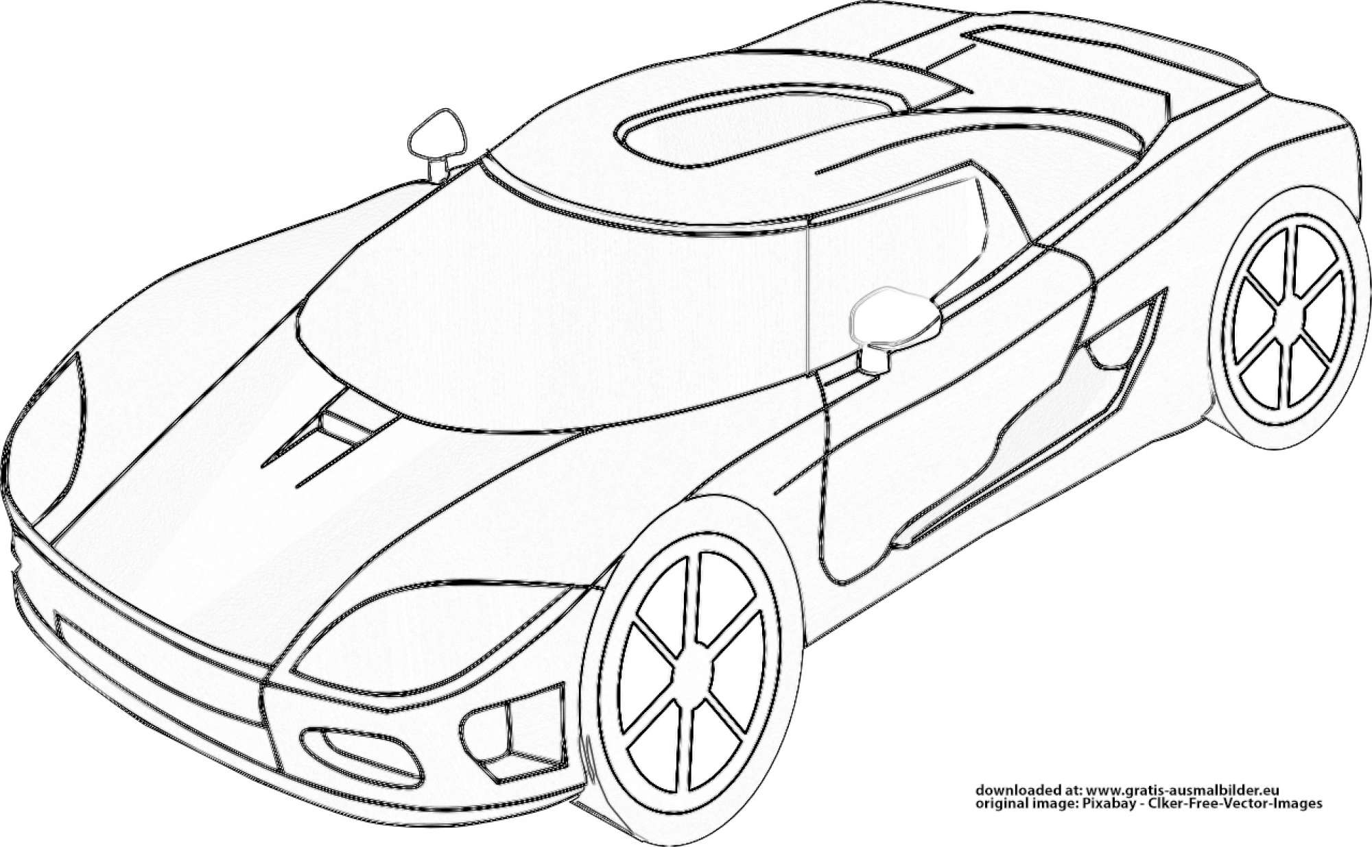 ▷ Rennwagen - Gratis Ausmalbild in Rennwagen Ausmalbilder