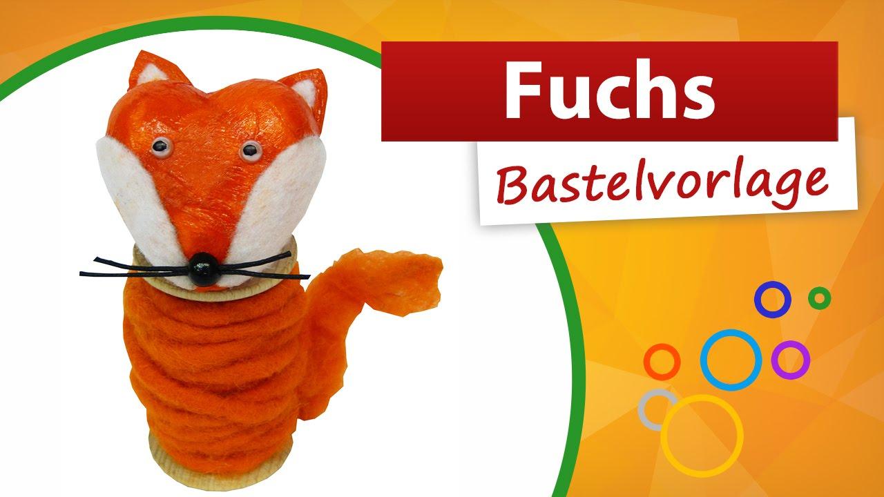 ♥ Fuchs Bastelvorlage ♥ Im Kindergarten Basteln - Trendmarkt24 mit Bastelvorlage Fuchs