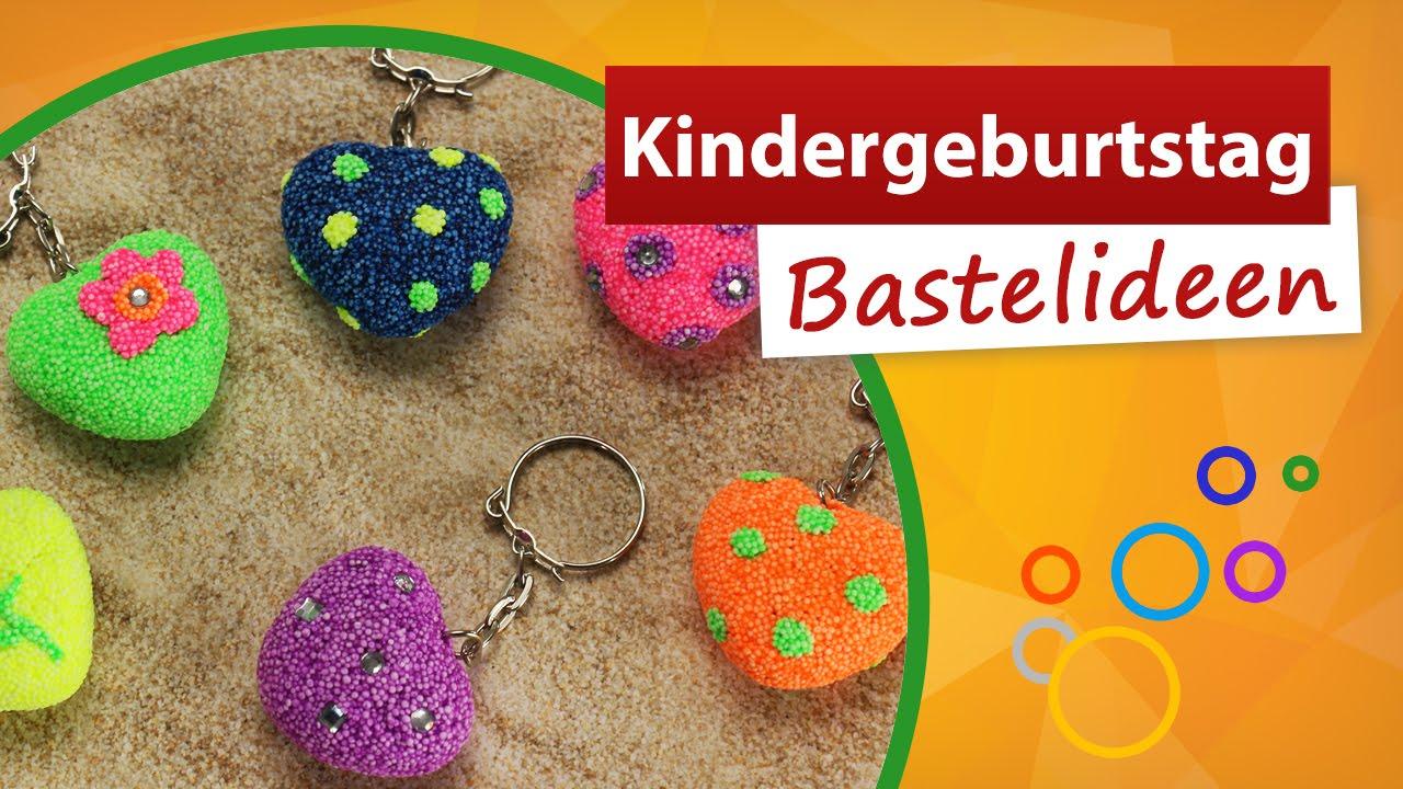 ✂ Kindergeburtstag Bastelideen ✂ Herzanhänger Basteln - Trendmarkt24 über Einfache Bastelideen Zum Kindergeburtstag