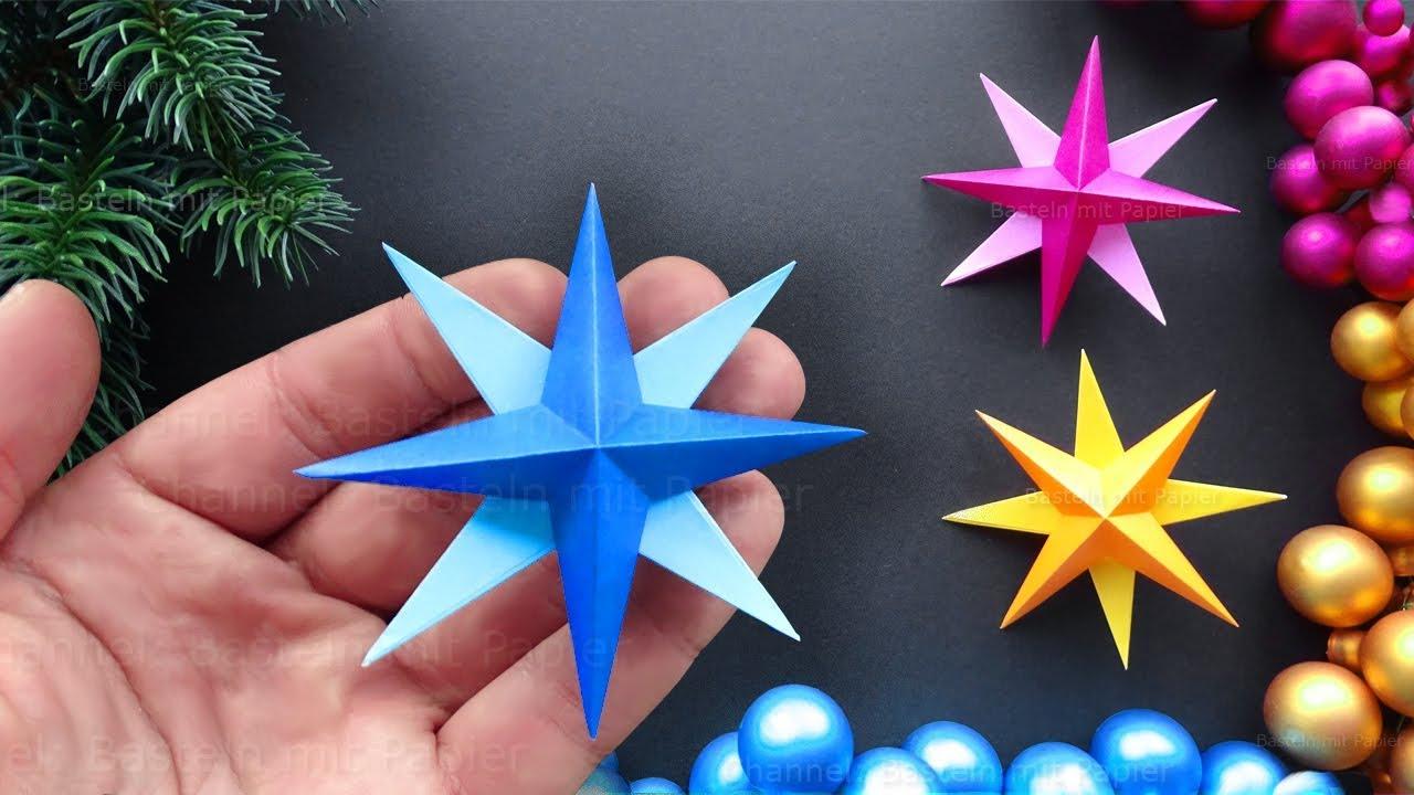 Easy Paper Star For Christmas ⭐ Diy Christmas Decorations bestimmt für Sterne Basteln Weihnachten