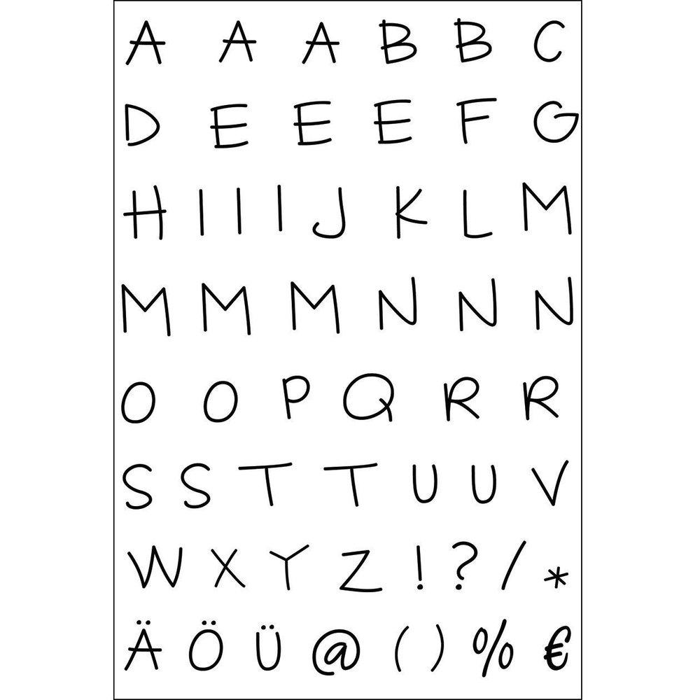 Efco Clear Stamp-Sortiment Alphabet Grossbuchstaben 1-Teilig mit Alphabet Großbuchstaben