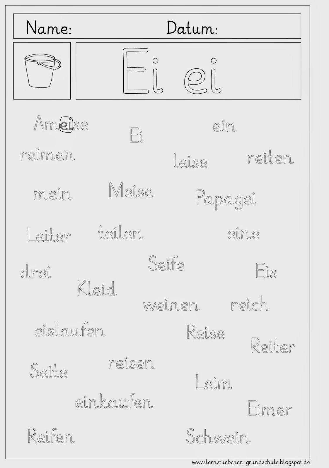 Ei - Ei Erkennen Und Schreiben | Deutsch Lernen Kinder verwandt mit Arbeitsblatt Schreiben Klasse 1