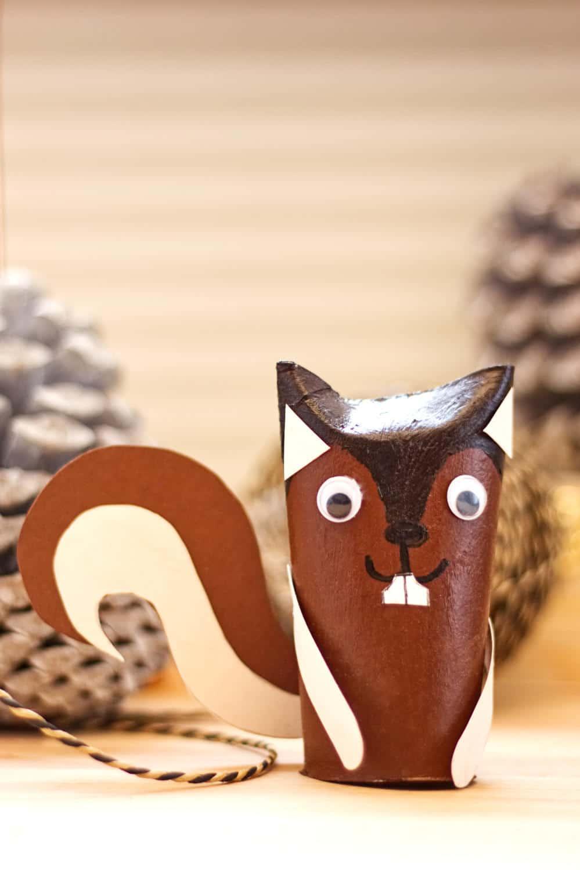 Eichhörnchen Basteln - Handmade Kultur bestimmt für Eichhörnchen Bastelvorlage