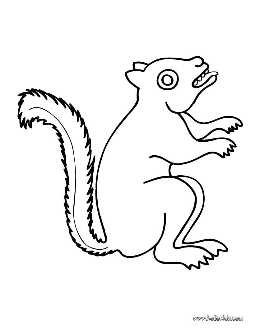 Eichhörnchen Zum Ausmalen Zum Ausmalen - De.hellokids für Eichhörnchen Zum Ausmalen