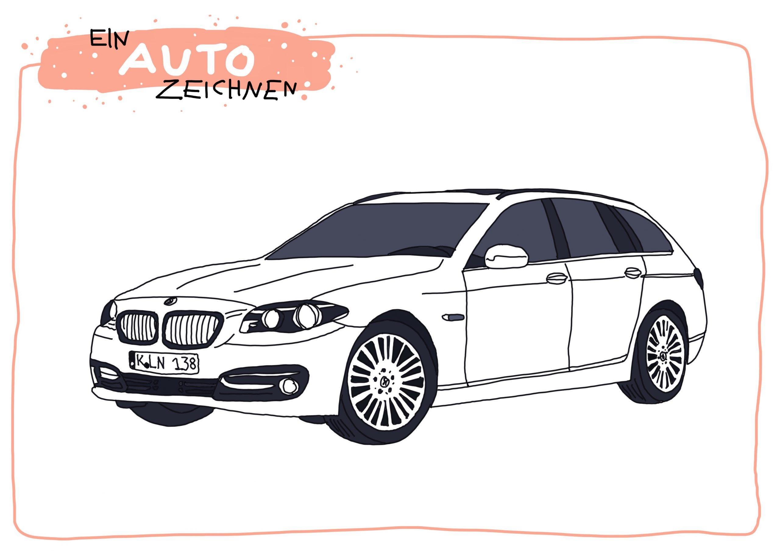 Ein Auto Zeichnen   Fahrzeughits Der Kids - Creatipster bestimmt für Auto Malen Einfach