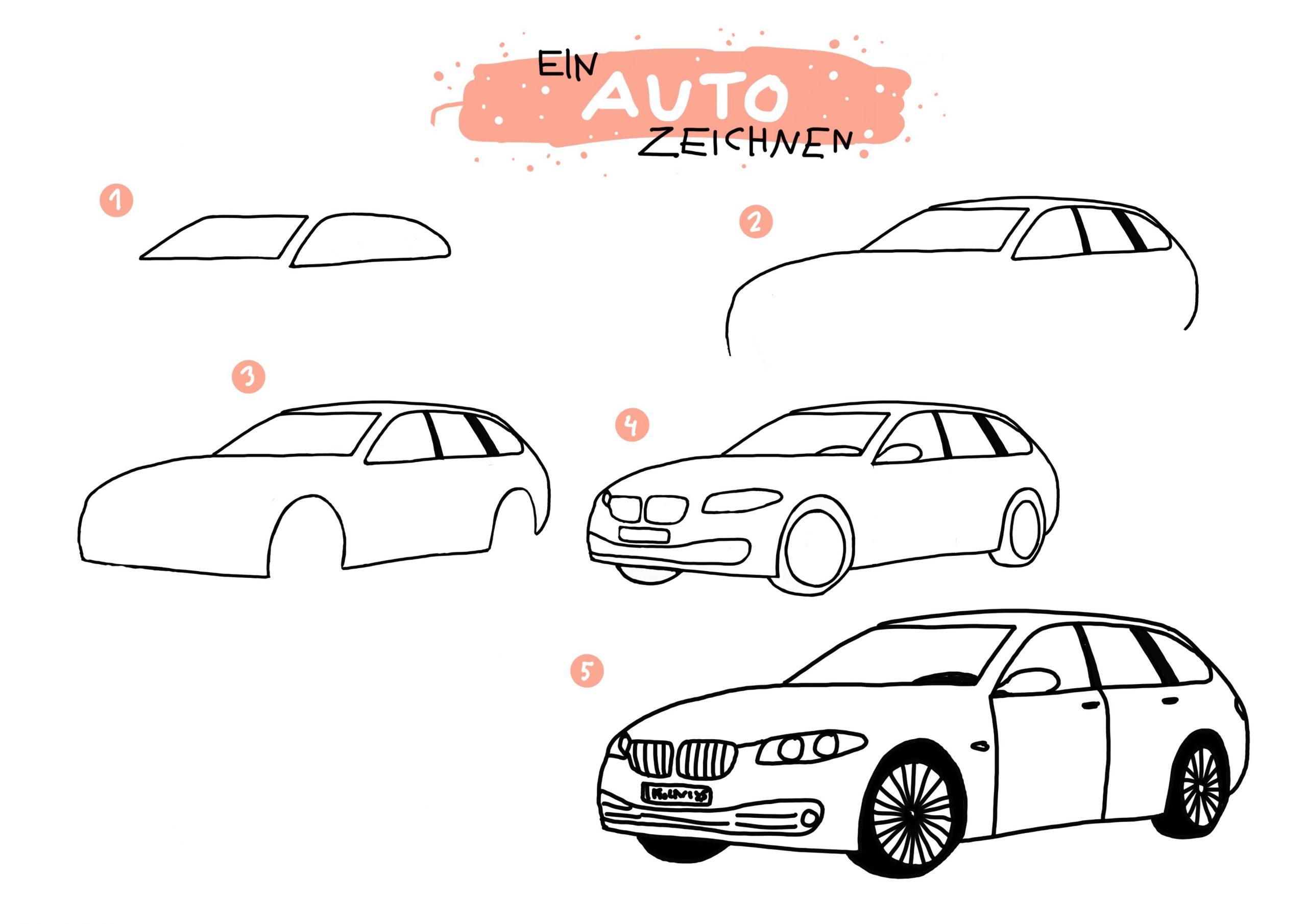 Ein Auto Zeichnen   Fahrzeughits Der Kids - Creatipster über Auto Malen Einfach