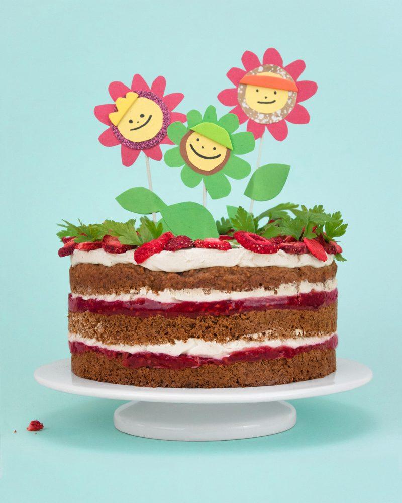 Ein Gesunder Kuchen (Fast Ohne Zucker) Zum Ersten Geburtstag ganzes Geburtstagskuchen Für 1 Jahr