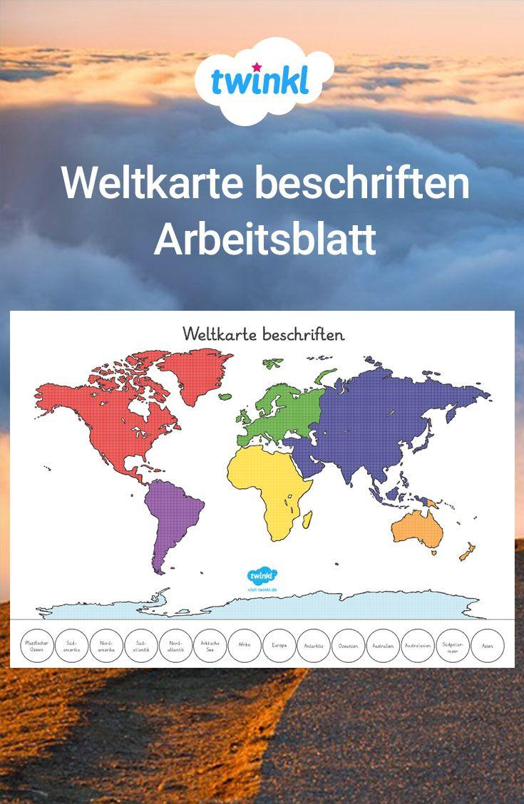Ein Praktisches Arbeitsblatt, Auf Dem Ihre Schüler Die ganzes Kontinente Grundschule
