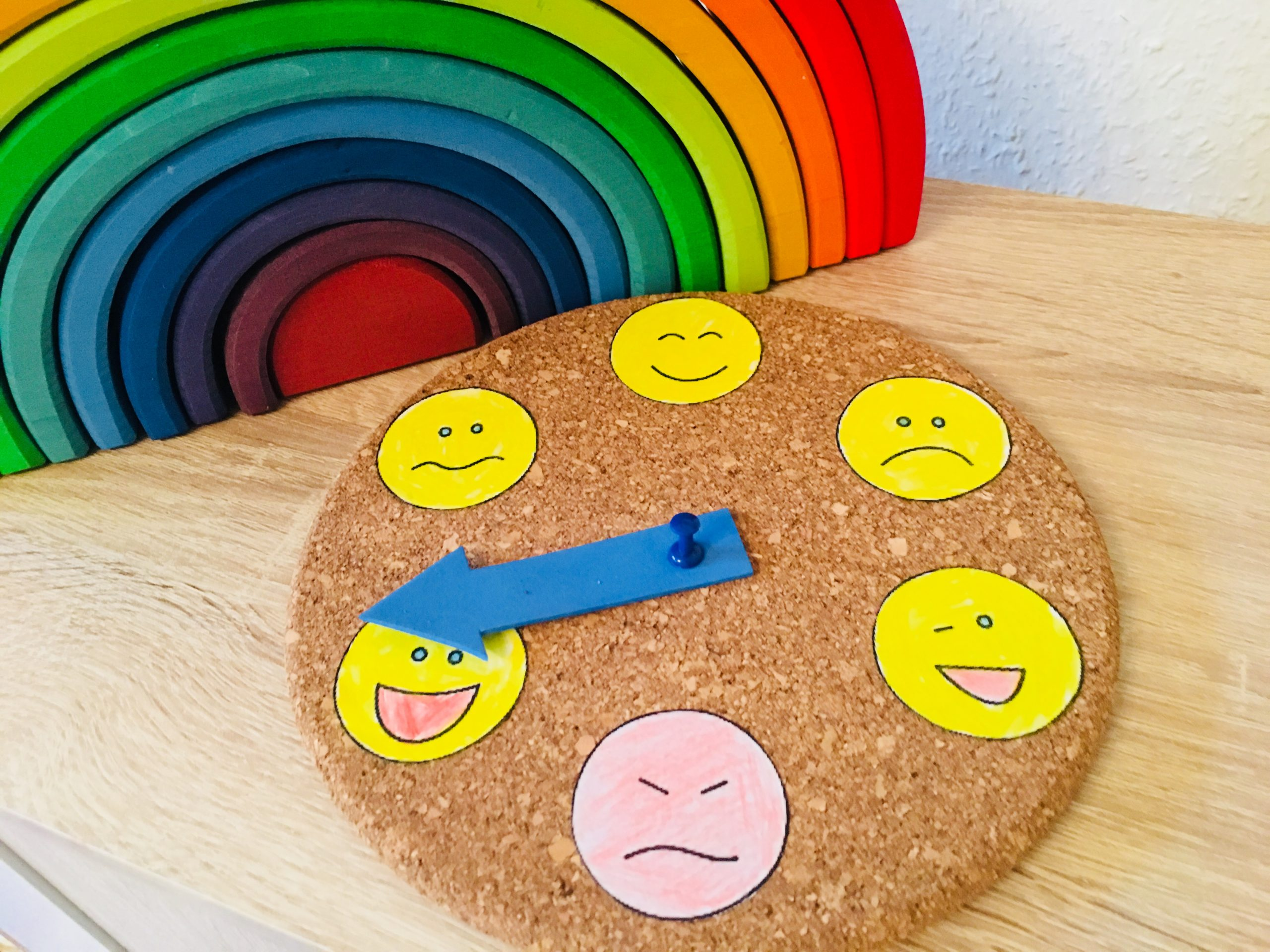 Eine Gefühle Uhr Basteln - Kinder Verstehen | Der für Bastelarbeiten Für Kindergartenkinder