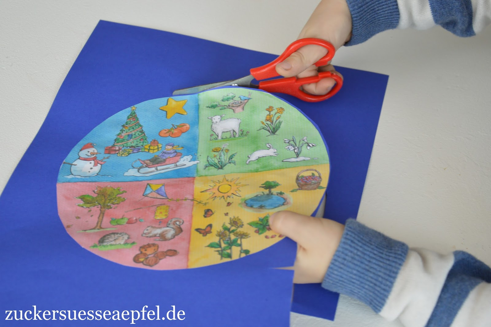 Eine Jahreszeitenuhr Mit Kindern Basteln | ♥ Zuckersüße bestimmt für Jahreszeitenuhr Basteln