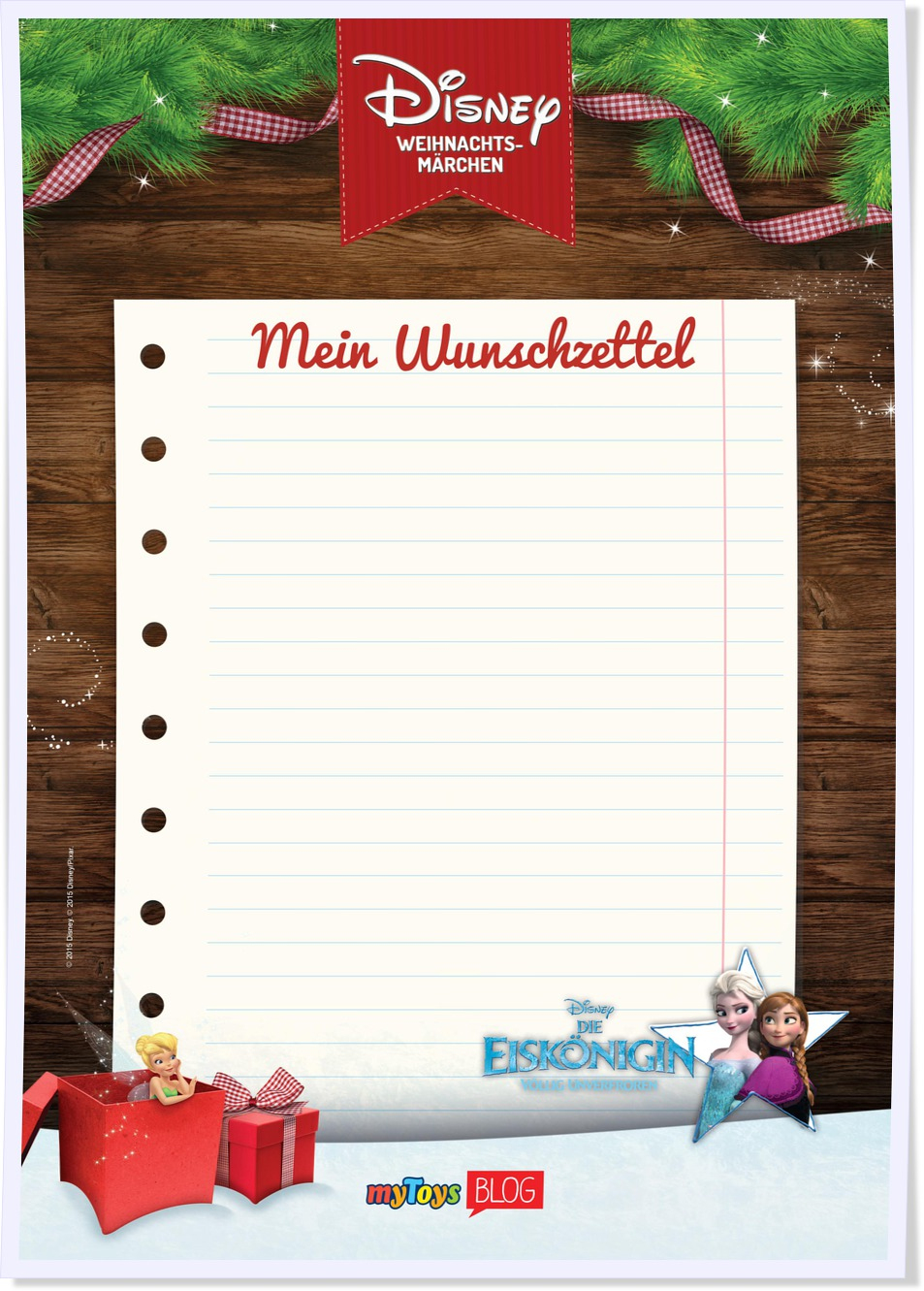 Eine Vorlage Für Den Wunschzettel Zum Ausdrucken für Weihnachtswunschzettel Zum Ausdrucken
