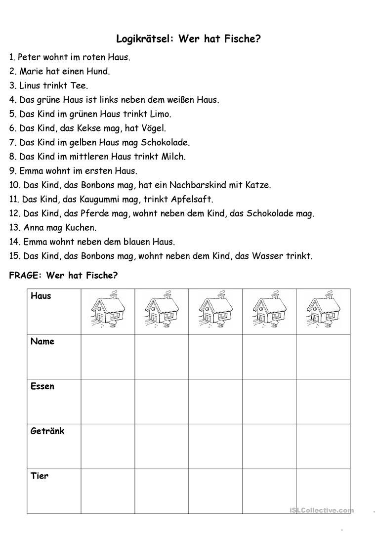 Eine Zwischendurchübung (11) - Logikrätsel | Logik Rätsel in Osterrätsel Für Grundschulkinder