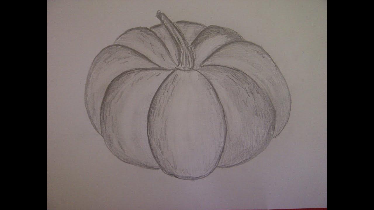 Einen Kürbis Für Halloween Zeichnen. Malen Lernen, Online. How To Draw A  Pumpkin bestimmt für Kürbis Malen