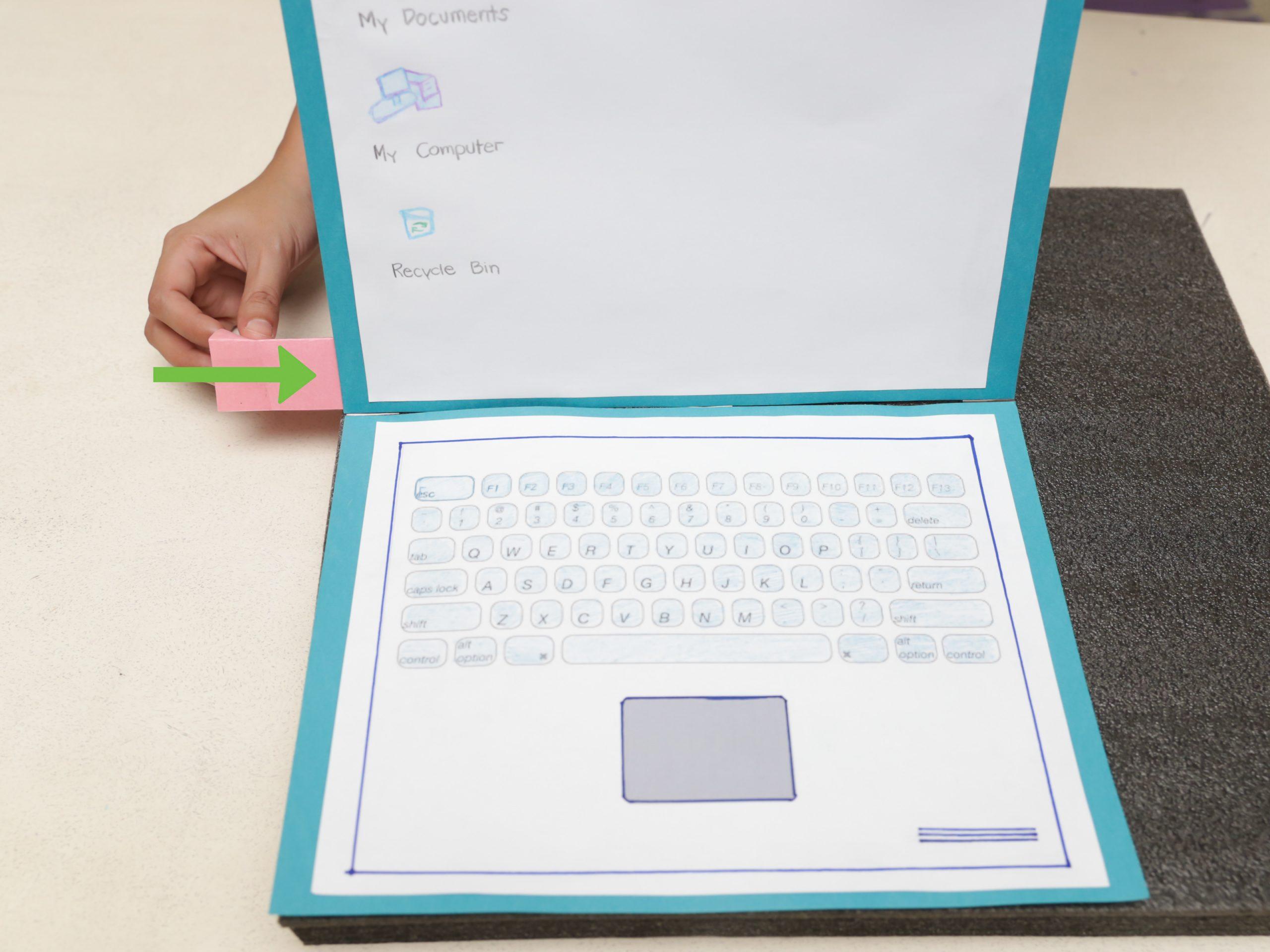 Einen Laptop Aus Papier Machen: 9 Schritte (Mit Bildern bestimmt für Gemustertes Tonpapier