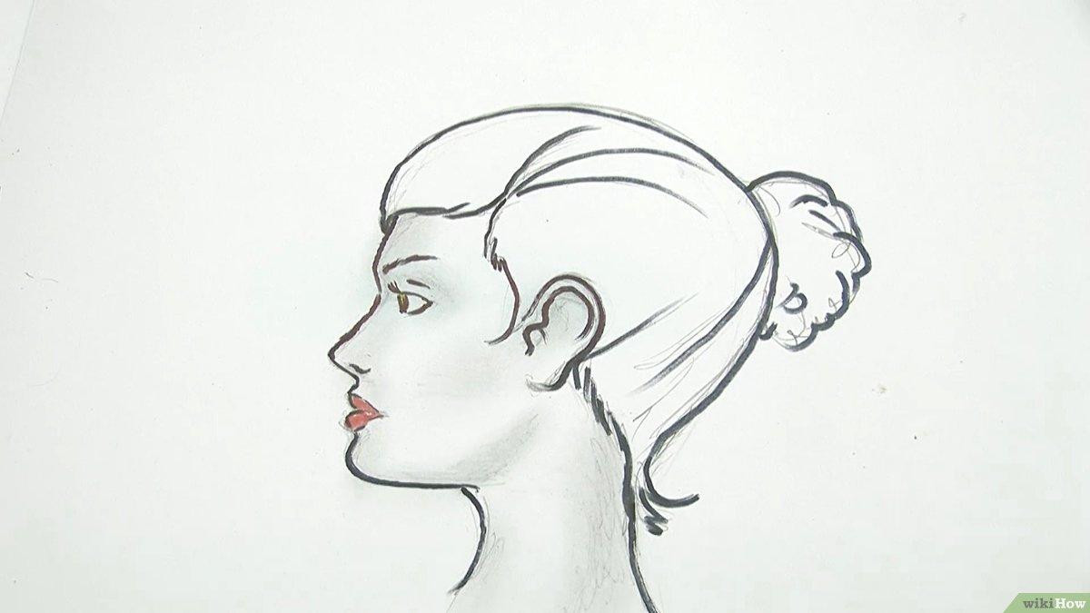 Einen Menschlichen Kopf Zeichnen: 13 Schritte (Mit Bildern innen Gesicht Von Der Seite Zeichnen
