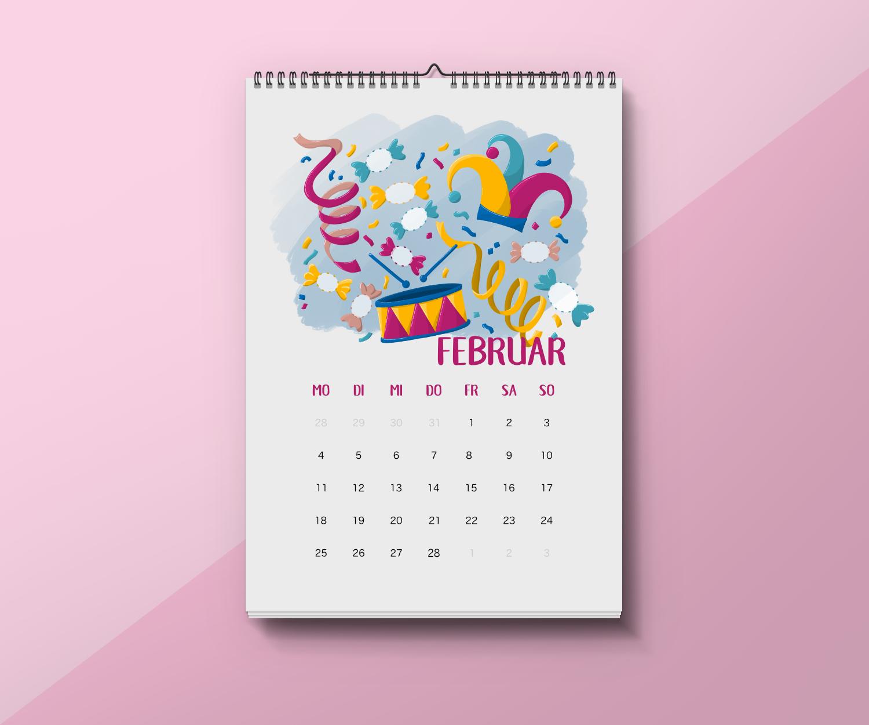 Einfach Kalender Basteln Mit Kindern - Fingerstempel in Kalender Basteln Mit Kindern