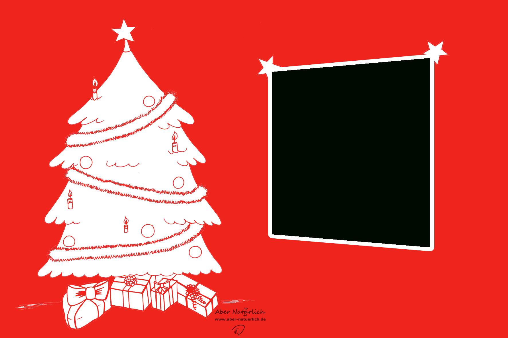 Einfach Und Günstig: Weihnachtskarte Selber Gestalten – Mit für Weihnachtskarte Vorlage