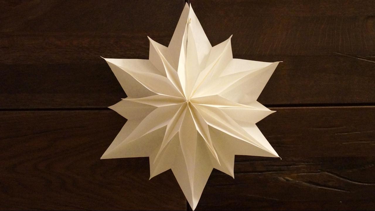 Einfache Sterne Zu Weihnachten Basteln / Paper Stars Tutorial / Diy mit Sterne Basteln Weihnachten