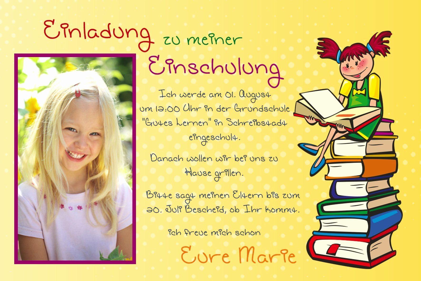 Einladung Einschulung | Einladung Schulanfang bei Danksagungskarten Schulanfang