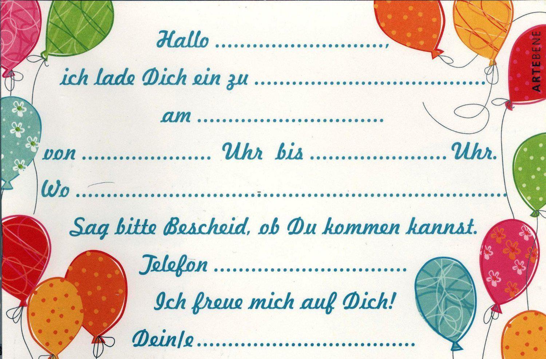 Einladung-Kindergeburtstag-Ausdrucken (Mit Bildern bei Geburtstagskarten Kindergeburtstag Kostenlos