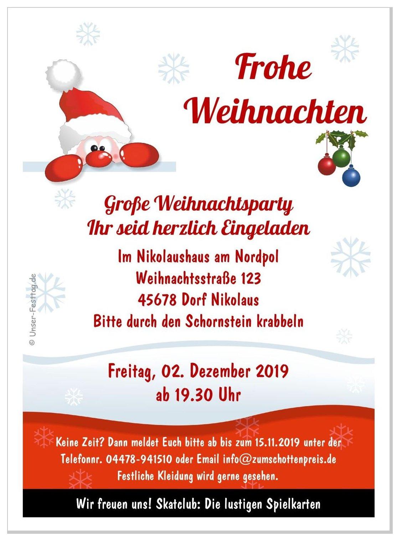 Einladungskarte Lustiger Nikolaus bei Nikolausfeier Für Erwachsene Gestalten