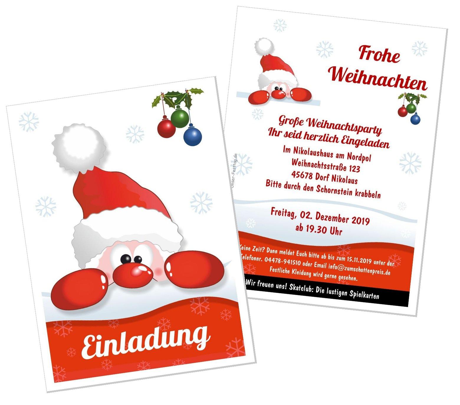 Einladungskarte Lustiger Nikolaus mit Nikolausfeier Für Erwachsene Gestalten